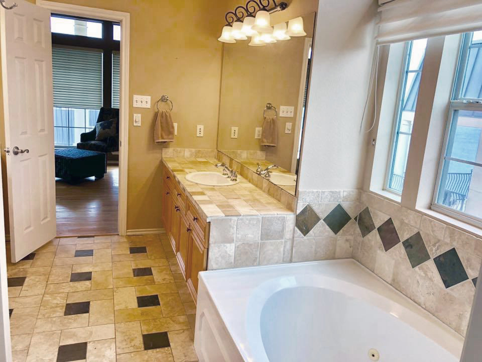 Villas on Travis Master Bathroom